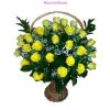 Sárga rózsa kosár