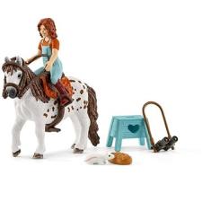 Schleich Horse Club Mia és Spotty játékfigura
