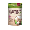 Schmusy Nature Kitten borjú és baromfi szószban - alutasak 12x100g