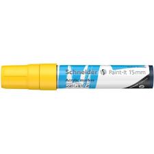"SCHNEIDER Akril marker, 15 mm, SCHNEIDER ""Paint-It 330"", sárga filctoll, marker"