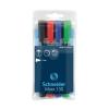 """SCHNEIDER Alkoholos marker készlet, 1-3 mm, kúpos, SCHNEIDER """"Maxx 130"""", 4 különbözo szín (4 db)"""