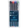 """SCHNEIDER Alkoholos marker készlet, OHP, 0,7 mm, SCHNEIDER """"Maxx 222 F"""", 4 különböző szín"""