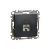 Schneider Electric SDD114461S Informatikai csatlakozóaljzat 1xRJ45, Cat6 STP, antracit burkolattal, keret nélkül, csavaros bekötés (Sedna Design / Elements)