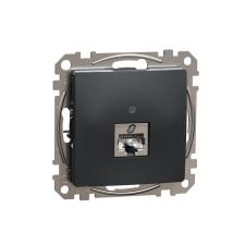 Schneider Electric SDD114461S Informatikai csatlakozóaljzat 1xRJ45, Cat6 STP, antracit burkolattal, keret nélkül, csavaros bekötés (Sedna Design / Elements) tok és táska
