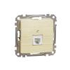 Schneider Electric SDD180491 telefoncsatlakozó 1xRJ11, nyír burkolattal, keret nélkül, csavaros bekötés (Sedna Design / Elements)