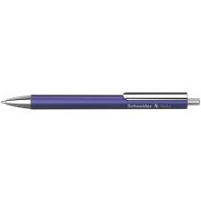 "SCHNEIDER Golyóstoll, 0,5 mm, nyomógombos, lila színű tolltest,  ""Perlia"", kék toll"