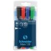 """SCHNEIDER """"Maxx 130"""" 1-3 mm kúpos 4 különböző szín alkoholos marker készlet"""