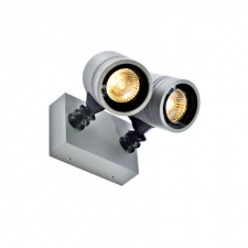 Schrack Technik NEW MYRA WALL SPOT fali lámpa, 2xGU10, IP55, ezüst kültéri világítás