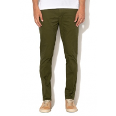 Scotch & Soda , Mott super slim fit chino nadrág övvel, Zöld, W31-L32 (145299-0548-W31-L32)