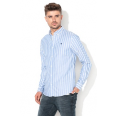Scotch & Soda , Regular fit csíkos ing, Halványkék/Fehér, XL (145366-0222-XL)