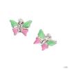 scout Gyerek fülbevaló ékszer ezüst pillangó grĂźn/rosa Mädchen 262128100