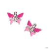 scout Gyerek fülbevaló ékszer ezüst pillangó rózsaszín Mädchen 262127100