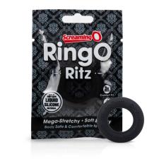 Screaming O Ritz - szilikon péniszgyűrű (fekete) péniszgyűrű