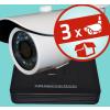Sec-CAM Valódi 4MP (2K) - AHD - kompakt csőkamera - 3 kamerás komplett megfigyelő szett