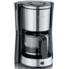 Tefal EquInox CM360830 Kávéfőző, 1,25L, szűrőtartó, csepegésgátló rendszer, vízszintjelző, Fekete