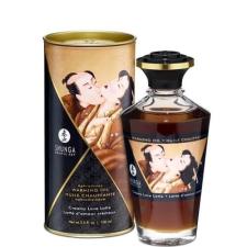 sexfashion Shunga - melegítő hatású masszázsolaj (krémes latte) - 100ml masszázsolaj és gél