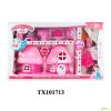 Shantou Tuoxin Industry Co., Ltd. MushRoom Rózsaszín Gomba Babaház Bútorokkal Barbie Figurával