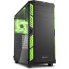Sharkoon AI7000 Glass Számítógépház - fekete-zöld (4044951020799)