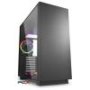 Sharkoon puresteel 4044951026616 ablakos fekete rgb számítógépház