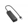 Sharkoon USB 3.0 4portos Aluminium Hub fekete /4044951016976/