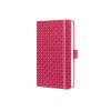 Sigel GmbH Sigel Jolie notesz, vonalas 9,5x15cm, gumipánttal, fuchsia pink
