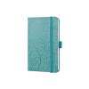Sigel GmbH Sigel Jolie notesz, vonalas, gumipánttal, 9,5x15cm, Green Elegance