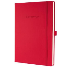 """SIGEL Jegyzetfüzet, exkluzív, A4, vonalas, 194 oldal, keményfedeles, SIGEL """"Conceptum"""", piros füzet"""
