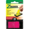 """SIGEL Jelölőcímke, műanyag, """"Z"""", 50 lap, 25x45 mm, SIGEL, rózsaszín"""