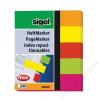 SIGEL Jelölőcímke, papír, 5x40 lap, 12x50 mm, SIGEL Neon Mini, vegyes szín (SIHN655)