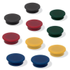 SIGEL Mágneskorong, 25 mm, 10 db/csomag, SIGEL, 4 különböző szín
