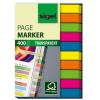"""SIGEL """"Micro"""" 6x50 mm műanyag vegyes színű jelölőcímke (10x40 lap)"""