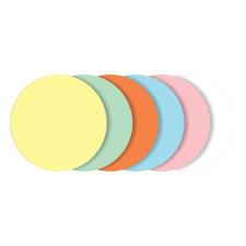 SIGEL Moderációs kártyák, kerek, 10 cm átmérő, 6 szín, SIGEL, vegyes színek ajándéktárgy