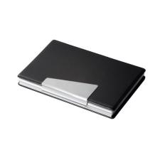 SIGEL Névjegytartó tárca, alumínium/műbőr, 20 db-os, SIGEL névjegytartó