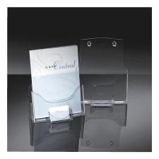 SIGEL Prospektustartó, asztali, A4, névjegytartóval, 1 rekeszes, SIGEL lefűző