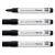 SIGEL Táblamarker, 1-3 mm, kúpos, 4 db/csomag, SIGEL, fekete