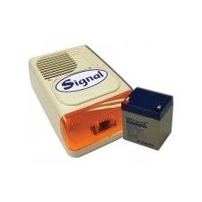 Signal PS-128A sziréna + 12V4Ah akkumulátor szett biztonságtechnikai eszköz