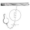 """""""Sikló"""" kígyó mintás ezüst nyakkendőcsipesz"""
