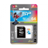 Silicon Power 64GB UHS-I CL10 Elite microSDXC memóriakártya + Adapter