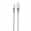 Silicon Power Cable microUSB - USB, Boost Link LK30AB Nylon, 1M, 2.4A, Gray Bulk