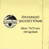 SilverBall 75x75mm 100lapos a-series öntapadós jegyzettömb