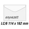 SilverBall Boríték LC6 enyvezett BÉLÉSNYOMOTT 114x162mm