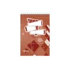 SilverBall Spirálos zsebkönyv A7 50 lapos KOCKÁS SilverBall <10db/csom> jegyzettömb
