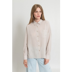 Silvian Heach Collection , Foltzsebes ing, törtfehér, L (PGP18330CA-OFF-WHITE-L)