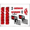 SIMSON MATRICA KLT. N50 PIROS / SIMSON - 50