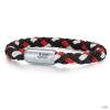 Skipper & Son Segeltau karkötő nemesacél ezüst/piros gemintat Hossz: 19 cm