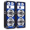 Skytronic 25 cm PA hangfalpár, kék fényeffekt, 2 x 800 W