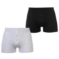 Slazenger férfi boxer 2 db/csomag - Slazenger 2 Pack Boxers Mens Black Grey