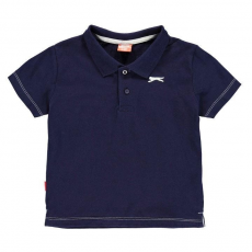 Slazenger gyerek póló - Plain Polo Shirt Infant Navy
