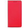 Smart magnet Huawei P Smart oldalra nyíló mágneses könyv tok szilikon belsővel piros