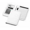 Smarti számológépes jegyzetfüzet, műbőr, fehér